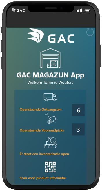 GAC magazijn app