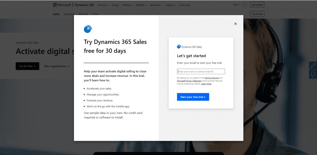 aanmelden dynamics 365 sales