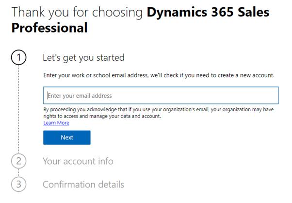 gratis dynamics 365 professional
